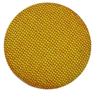 Dupion Poly Fabric Covered Decorative Yellow Buttons 2 Holes Sewing Scrapbooking