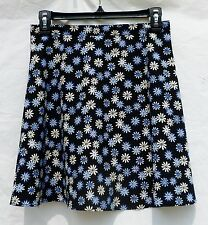 Junior Women'S Size 9 Exact Change Vintage Blue & White Floral Mini Skater Skirt