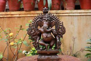 Ganesha Statue Ganesh Bronze Sculpture Home Decor Hindu God Vintage Antique Idol