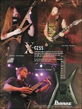 Ibanez Xiphos guitar All That Remains The Absence Necrophagist 8 x 11 ad print