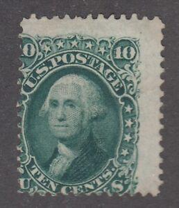 USA MINT NG Scott #68  10 cent Washington yellow green  F