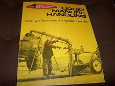 New Idea Liquid Manure Handling Spreaders & Agitator Loaders Brochure