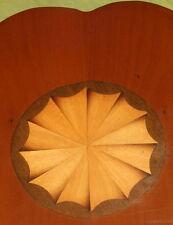 Good vintage inlaid yew wood Regency mirror hall overmantle