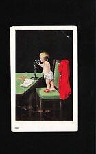Ottawa IL 1908 Postcard Telephone Promotion Hello Papa Child on Phone 4y