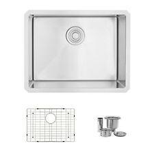 "23""L x 18""W Stainless Steel Single Basin Undermount Kitchen Sink"
