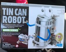 4M Tin Can Robot New Sealed Green Science