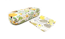 Yellow Blossom Hard Glasses Case with Matching Cleaning Cloth Floral Glass Case