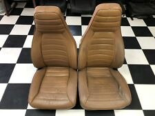1974-1985 Porsche 911/944 Butterscotch Leather Bucket Seats - Manual Recliners