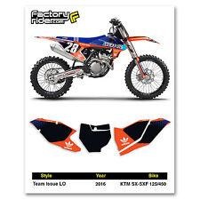 2016 - 2018 KTM SX-SXF 125/450 Team Issue LO Motocross Custom Number Plates