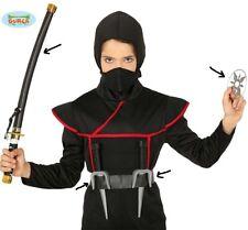 Ninja Fancy Dress Toy Weapon Set Sabre Samurai Sword, Daggers & Throwing Star fg