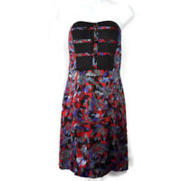 BCBGeneration Dress Womens Size 6 Floral Sweetheart Event Cocktail Midi New