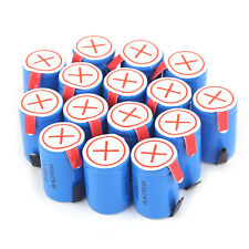 15 x Ni-Mh 4/5 SubC Sub C 1.2V 2800mAh Rechargeable Battery with Tab Blue MX