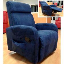 Poltrona relax riscaldamento microfibra reclinabile kit vibro massaggiante |210|