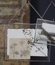 "Nkuku Kiko Photo Frame Silver Double Sided Glass Landscape 8x10"" 20x25cm"