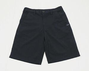 Under Armour UA Bent Grass Black Nylon Blend Golf Shorts Mens 32