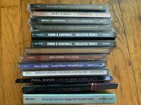 LOT OF (17) SIMON & GARFUNKEL / PAUL SIMON CDS & DVDS - USED