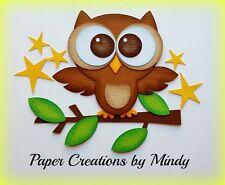 CRAFTECAFE MINDY OWL WOODS OUTDOOR premade paper piecing scrapbook die cut Title