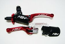 C6 RED Pro Pack Brake & Clutch Levers Honda CRF150F CRF150 150F 03 04 05 06 07