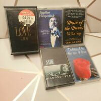 Love songs compilation joblot of 6 cassette tapes movies songs Sade diamond life