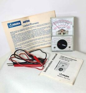 Vintage MURA METER NH-55 VOM-MULTITESTER 2000 Ohms Original Box & MANUAL