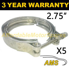 """5x V-BAND Esterno Morsetti in acciaio inox tubo di scarico Turbo 2.75"""" 70mm"""