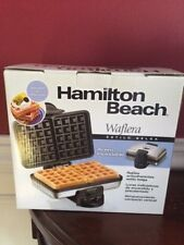 "Hamilton Beach Belgian Waffle Maker Baker ""NEW  in Box"""