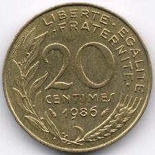 France :  20 Centimes 1986
