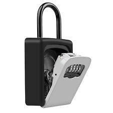 4 Digit Key Safe Vault Lock Box Travel for Real Estate Outdoor Use Car-door
