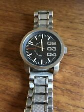 Mens DIESEL  DZ1370 Double Down Large Dial SS Watch and Band W544