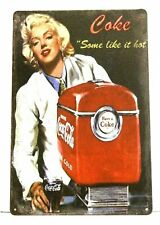 Marilyn Monroe Coca Cola Coke Tin Sign Poster Vintage Ad Style Some Like it Hot