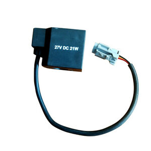 EDH0427V-H Solenoid Valve Coil for Hyundai Excavator 27VDC 21W R130/210/215