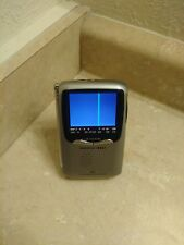 """Sharper Image CO 729 Handheld Portable Color 2.5"""" TV in Working Condition!"""