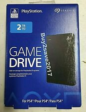 Seagate Game Drive 2TB External Hard Drive - Playstation 4  PS4 *New* Sealed