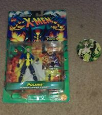 Toy Biz X-men Polaris action figure w/Power Upper Punch / pin-back button