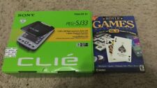 Sony Clie Peg-Sj33 Handheld Palm Os 4.1 Old Vintage Electronics Pda Hoyle games