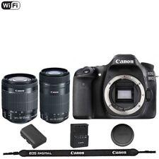 Canon EOS 80 D / 80D DSLR Camera Body  + EF-S 18-55mm + 55-250mm STM Lens