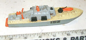 Vintage Dinky 675 Military Motor Patrol Boat Prowler # 153, Made in England.