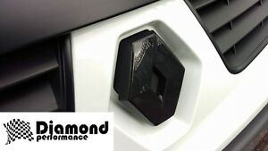 FRONT logo badge COVER for RENAULT TRAFIC 2006-2014 FACELIFT in GLOSS BLACK