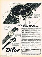 PUBLICITE ADVERTISING 075  1959  les montres DIFOR AUTOMATIC 2