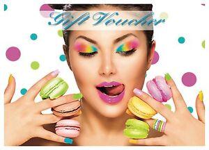 Blank beauty Salon spa gift card  Nail /hair/massage A6 size x10 plus envelopes.