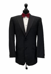 Mens Tuxedo Dinner Suit Jacket Chest 42 Black Formal Cruise Wedding  P240