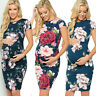 Women Maternity Pregnancy Summer Casual Party Short Sleeve Dress Floral Sundress
