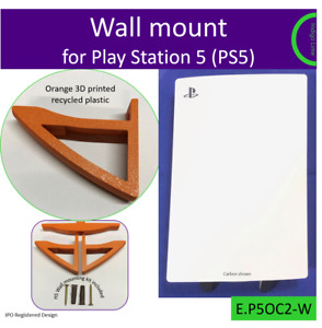 PlayStation 5 PS5 wall bracket wall mount stand Made in the UK by us. Orange