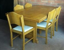 Vintage Retro Kitsch 6 Piece Table Chairs  Dining Suite