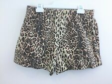 CAMILLA AND MARC Love Lucy Cotton Animal Print Shorts sz 10 Ladies [dc