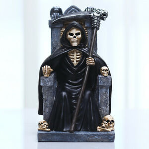Resin Craft Halloween Decoration Western Traditional Throne Reaper Gift Gift