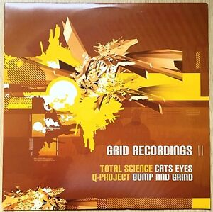 """Total Science / QProject – Cats Eyes / Bump & Grind 12"""" Vinyl Record GRID023"""