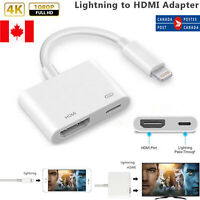 Digital Lightning to HDMI AV Adapter Cable for HDTV Monitor Projector iPhone 11