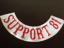 Support 81  Patch Aufnäher-Backpatch ca.40x9cm,MC,Kutte,