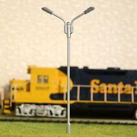 S214 - 10 Stück Peitschenleuchten mit LED warmweiß 2-flammig Höhe 10cm Set